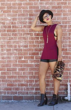 Best Tank Ever [[MORE]] Top: She   Shorts: H&M   Necklace: H&M   Clutch: She   Boots: Santee & Olympic DTLA Fashion By She Recycles Fashion