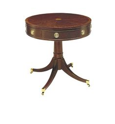 Hickory Chair- Pedestal Drum Table