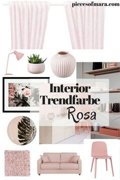 Interior Trendfarbe ROSA, piecesofmara, Couch, Chair, Rosé
