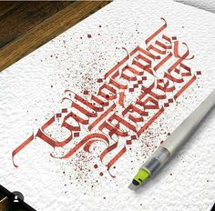 """image by Lalit Mourya Calligrapher ( with caption : """"Greeting for """"Calligraphy Masters"""" ✍🙏🔥🙌🇮 🇳 - 1492723024837899221 Script Lettering, Lettering Design, Typography, Lettering Ideas, Calligraphy Artist, Calligraphy Letters, Ganesha Drawing, Graffiti, Alphabet Design"""