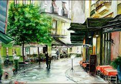 French Street Scene - Steve James