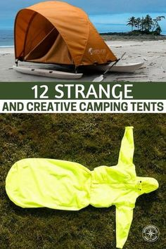 12 Strange and Creative Camping Tents - The name says it all.... Some are just plain crazy but I can see some that would be really handy and cool to have. This post is just to see whats available and whats coming out. If you have no bug out location or an alternative place to stay if SHTF and you have to leave your house a tent would not be a bad idea, especially the light travel ready ones. #camping #campingtents #tent