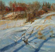 """Rose Frantzen - Landscapes, """"Melting Snow"""", oil 30x34"""""""