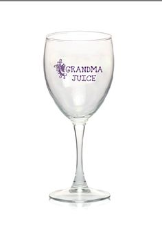 Grandma Juice Wine Glass  Mothers Day Gift by TheLittleBarntique, $11.95