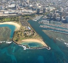 Magic Island Beach. One of my favorite beaches: easy to get to, great views of Waikiki and Diamond Head. It's usually pretty quiet and a relaxing place to swim without waves.
