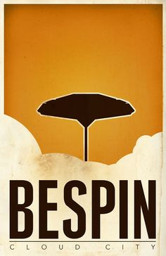 Bespin, Cloud City / Van Genderson / Minimalist Star Wars Posters