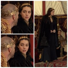 Mary's Black and Gold Dress (with cloak) 1x22: Slaughter of Innocence