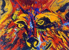 by -Billy Soza Warsoldier  Cahuilla/Apache--I love this artist's aspen wolf series - saw them at a museum in San Diego