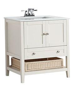 Simpli Home Cape Cod Bath Vanity, 30-Inch, Soft White Simpli Home http://www.amazon.com/dp/B00U2MOT7G/ref=cm_sw_r_pi_dp_wiVEvb1RE8AMT