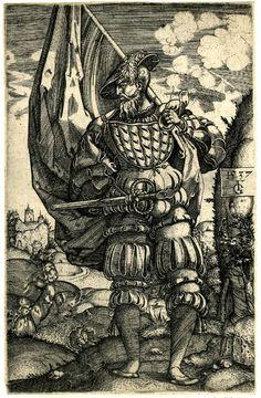 landsknechts: Знаменосцы (The Standard-Bearer) 16th century