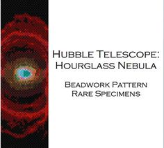 Hourglass Nebula Hubble Telescope Picture Peyote Stitch Beadwork Pattern - Cuff Bracelet - Bookmark - PDF instant download
