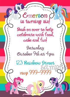 Updated free printable my little pony birthday invitations like the wording my little pony printable birthday invitation by krdigitalcandee filmwisefo Image collections