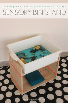 DIY: This simple Ikea hack is simple, inexpensive, multipurpose, and fully customizable. Sensory Tubs, Sensory Boxes, Sensory Activities, Sensory Play, Toddler Activities, Learning Activities, Montessori Toddler, Teaching Ideas, Stencil Diy