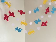 Planes Trains and Automobiles Birthday Party Decoration Airplane Garland Birthday Party Decoration Room Decor Baby Shower Decor CUSTOM COLOR Planes Trains and Automobiles Birthday Party by ClassicBanners
