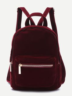 Shop Burgundy Pocket Front Double Handle Velvet Backpack online. SheIn offers Burgundy Pocket Front Double Handle Velvet Backpack & more to fit your fashionable needs.
