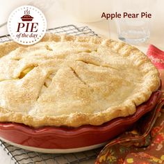 Apple Pear Pie Recipe from Taste of Home -- shared by Grace Camp, Owingsville, Kentucky