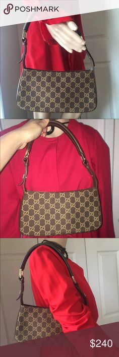 76b4642ec63 Gucci signature hobo shoulder Authentic Gucci signature hobo shoulder  handbag (brown gold) good