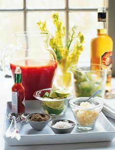 Ultimate Wedding Brunch Bloody Mary Bar