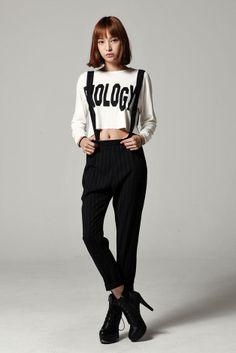 Suspenders Stripe Pants