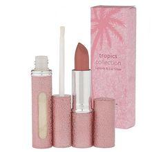 """Laura Geller """"The Tropics"""" Lipstick & Lip Gloss Set Full Makeup, Makeup Kit, Beauty Makeup, Elf Make Up, Laura Geller, Eyeliner, Lip Gloss Set, Lipstick Collection, Beauty Must Haves"""