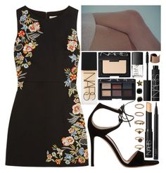 """""""we planned it"""" by velvet-ears ❤ liked on Polyvore featuring Gianvito Rossi, Alice + Olivia, NARS Cosmetics, Forever 21, Kate Spade and Maison Margiela"""