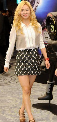 Beautiful Hyo yeon SNSD 2013 Fashion Dress Style Kim Hyo yeon Girls Generation SNSD 2013 Fashion Dress Style