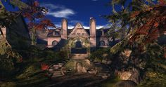 Fantasy Faire 2014 - Medhir Woods_002 Largest Waterfall, Autumn Forest, Barcelona Cathedral, Woods, Fantasy, Explore, Mansions, House Styles, Building