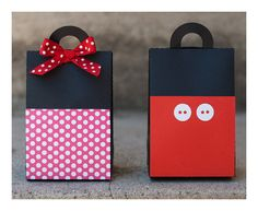 Mickey and Minnie Party favor boxes good for boy and girl twins parties!