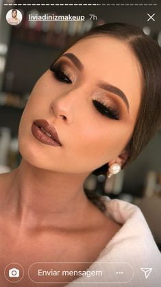 Ideas For Soft Bridal Makeup Tutorial Eyeshadows Soft Makeup Looks, Prom Makeup Looks, Wedding Hair And Makeup, Bridal Makeup, Makeup For Brown Eyes, Smokey Eye Makeup, Eyeshadow Makeup, Face Makeup, Brown Eyeliner