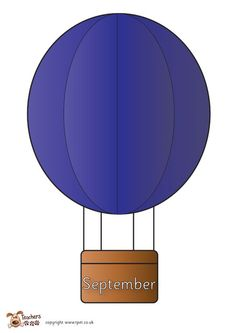 Teacher's Pet - Hot air balloon Birthday display - FREE Classroom Display Resource - EYFS, KS1, KS2, hot, balloon, transport, birthdays, calendar, months, year