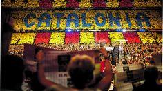 """Der katalanische Traum - kurier.at, Leila Al-Serori, 08.09.2014. """"V wie Victoria, Sieg. Oder auch V wie votar, wählen. """"Wir Katalanen wollen über unsere Zukunft abstimmen"""", erklärt der Sprecher der etwa 50 Demonstranten, Daniel Teixidor. Der Architekt wohnt seit vier Jahren in Österreich, hat hier Arbeit, Familie, Freunde. Dennoch trotzt er dem nassen Spätsommerwetter, um auf die Unabhängigkeitsbewegung in seiner Heimat aufmerksam zu machen. Und diese ist Katalonien""""."""