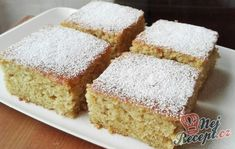 Hrníčková cuketová buchta (chutná jako nadýchaný perník) | NejRecept.cz Cookie Desserts, Dessert Recipes, Fudge, Lasagna Rolls, Healthy Deserts, Vanilla Cake, Sweet Recipes, Sweet Tooth, Food And Drink