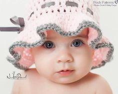 Crochet PATTERN for Sun Hat  Crochet Sun Hat por PoshPatterns