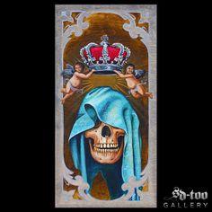 "Adorned - 11.5x23"" Inkjet Giclee Art Print - SD-too Gallery - Greg Bartz - Black Anvil Tattoo Artist Print - http://shop.sd-too.com"