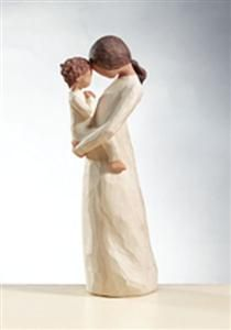 "#WillowTree Tenderness #Figurine. Treasuring a rare, quiet and tender moment of motherhood. ""I tried to capture a quiet moment in time, since they are so rare when you have a young child. At that age, about 18 months — they're their own little person — with a defined personality separate from your own. This is one rare and tender moment together — in sync with each other."" - Susan Lordi @demdaco"