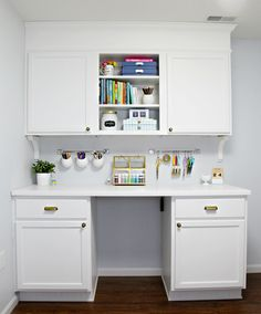 IHeart Organizing: Studio Update: Cabinet Craft Storage