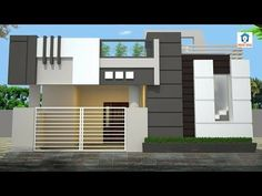Best Home Elevation designs for single floor House Front Wall Design, House Balcony Design, House Outer Design, Single Floor House Design, Modern Small House Design, Village House Design, Duplex House Design, 3d Design, Design Case