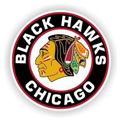 Chicago Blackhawks Round Emblem Vinyl Die-Cut Decal ** 4 Sizes **