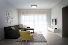 Minimalist home Budget - Budget Minimalist Apartment Designed for a Young Couple in Israel (Fres Home). Apartment Decorating For Couples, Couples Apartment, Bedroom Apartment, Apartment Living, Studio Apartment, Minimalist Apartment, Minimalist Home, Simple Living Room, Living Room Decor