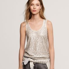 J Crew Vintage Cotton Sequin Tank 100% Cotton J. Crew Tops Tank Tops