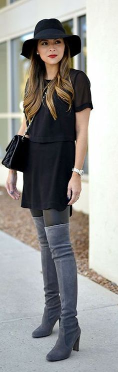 Grey And Black Chic Fall Inspo by The Girl From Panama