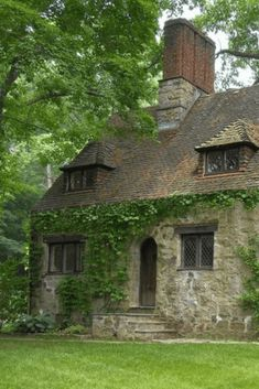 cottage home 1927 Tudor Mansion For Sale In Greenwich Connecticut - Stone Cottages, Cabins And Cottages, Stone Houses, Country Cottages, Stone Cottage Homes, Cottage In The Woods, Cottage Style, Lake Cottage, Tudor House