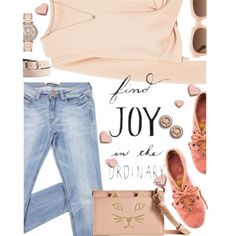 Find Joy in the Ordinary - Thursday by juliehooper on Polyvore featuring MANGO, Latigo, Charlotte Olympia, Michael Kors, Cynthia Rowley and Charlotte Russe