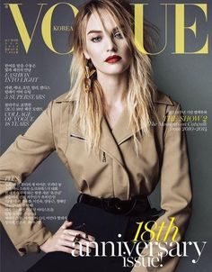 The August 2014 issue of Vogue Korea celebrates its 18th anniversary with five different covers, starring a bunch of leading models. Exploring the concept of global beauty, the glossy taps models Joan Smalls, Candice Swanepoel, Anja Rubik, Karen Elson and Lily Donaldson. On this cover: #Candice Swanepoel