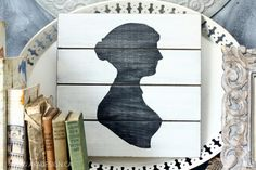 DIY Jane Austen Silhouette Art On Wood | Shelterness