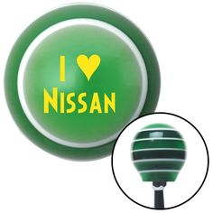 Yellow I 3 NISSAN Green Stripe Shift Knob with M16 x 15 Insert