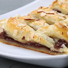 Similar to an almond crescent, this braided pastry creation is  so light and flaky, but is filled with a rich chocolate and  almond center. It is so versatile you can serve it for dessert, breakfas…