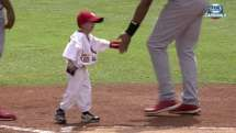 Josiah Viera leads Cards onto the field before a spring training game against the Tigers.  Love this..  3-16-15