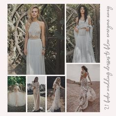 21 Boho Wedding Dresses to Blow Everyone Away | Kabuki Rune Wedding Dress Styles, Boho Wedding Dress, Hippie Style, Hippie Boho, Bridal Musings, Wedding In The Woods, Getting Married, How To Look Better, Fashion Dresses