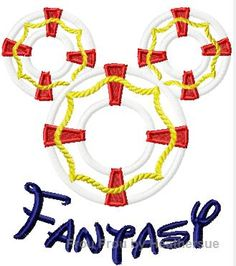 Life Preserver Fantasy Mister Mouse Machine Applique Embroidery Design, Multiple sizes including 4 inch